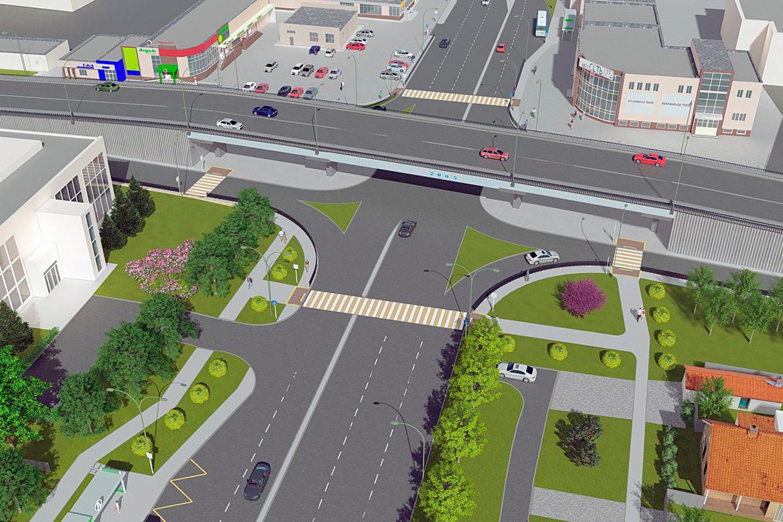 Транспортная развязка в двух уровнях на пересечении ул. Сумская и ул. Чичерина в г. Белгороде